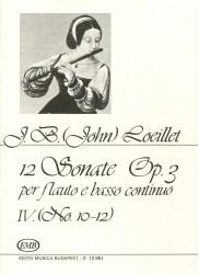12 Sonatas Op 3, Volume 4, No 10-12