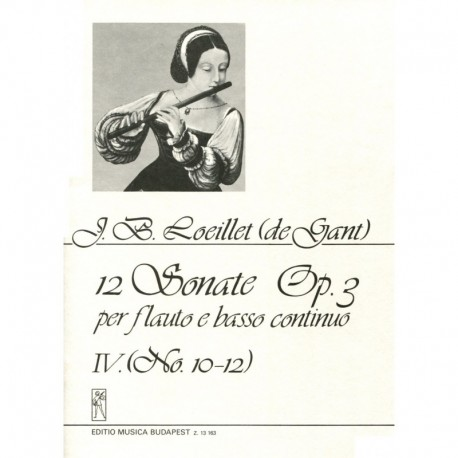 12 Sonata Op. 3, Volume 4, No. 10-12