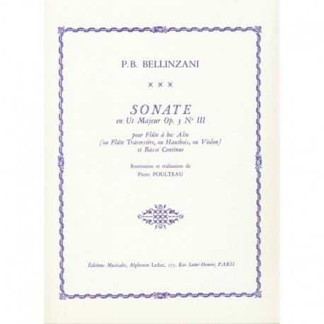 Sonata en Ut Majeur Op. 3 no. III