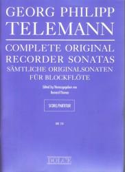 Complete Original Recorder Sonatas