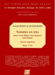 Sonates en trio pour trois flutes traversieres sans basse, Op 7 Paris 1725