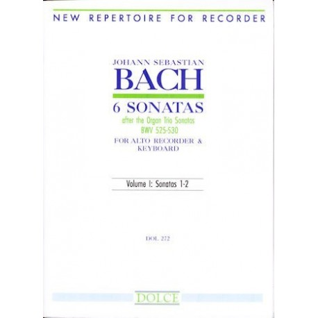 6 Sonatas after the Organ Trio Sonatas (BWV525-530) Vol 1: Sonatas 1-2