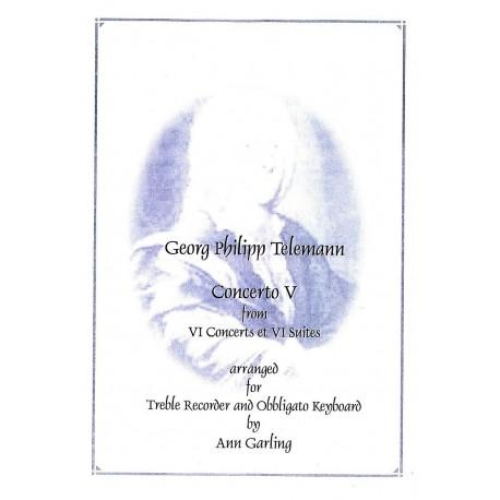 Concerto V from VI Concerts et VI Suites in c minor.  TWV42:h1