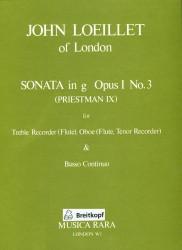 Sonata in G Major Op 1 No3