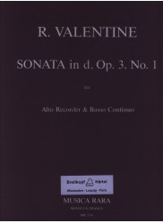 Sonata in d minor Op. 3 No. 1