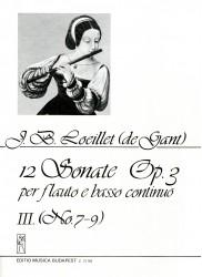 12 Sonata Op 3, Volume 3, No 7-9