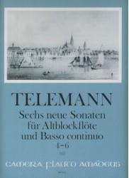 Sechs neue Sonaten fur Altblockflote und Basso continuo No 4-6