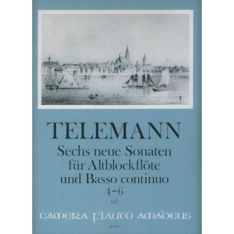 Sechs neue Sonaten fur Altblockflote und Basso continuo No. 4-6