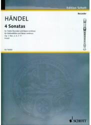 Four Sonatas Op. 1, Nos. 2, 4, 7, 11