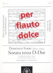 Sonata no 3 in D Major