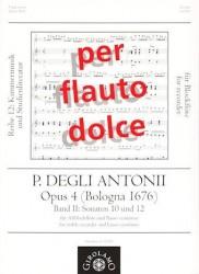 Opus 4 (Bologna 1676) Vol II: Sonatas 10 and 12