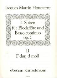Suites 4 Op 5, Vol 2 (F dur & d moll)