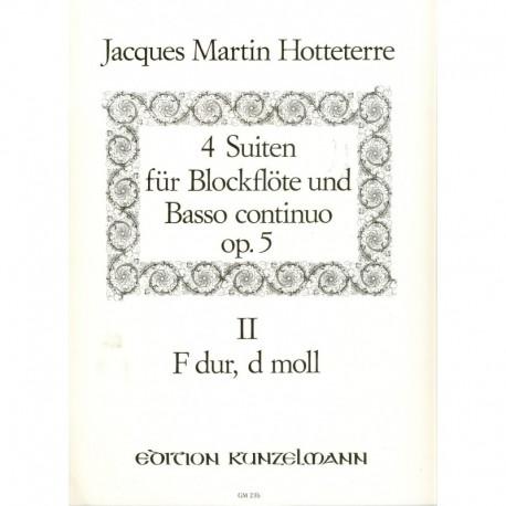 Suites 4 Op. 5, Vol. 2 (F dur & d moll)