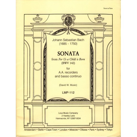 Sonata: From unto us a Child is Born [BWV 142]