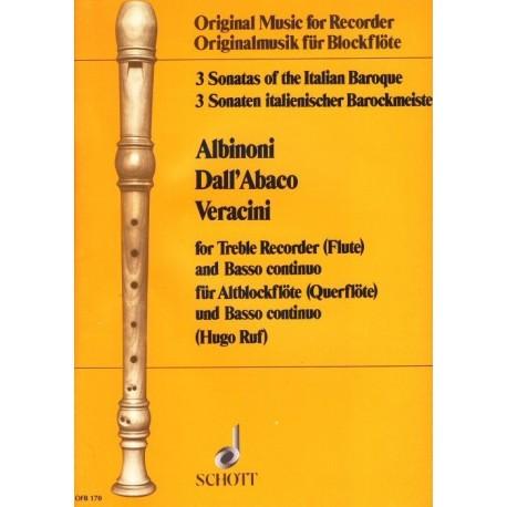 3 Sonatas of the Italian Baroque