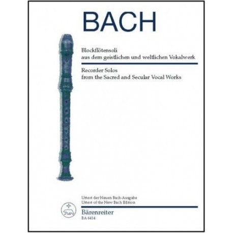 Recorder Solos from the Sacred and Secular Vocal Works