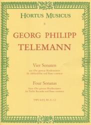 """Four Sonatas from """"Der getreue Musikmeister"""""""