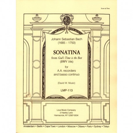 Sonatina: from God's Time is Best [BWV 106]