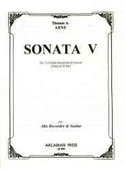 Sonata V from Eight Harpsichord Lessons