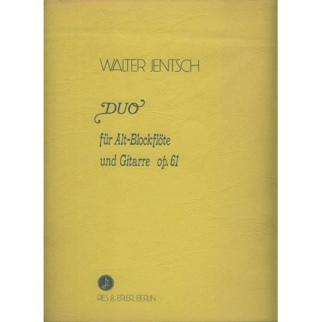 Duo for Treble Recorder and Guitar Op. 61