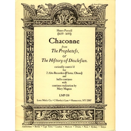 Chaconne From The Prophetess [Z 627]