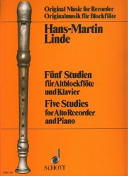 Five Studies for Alto Recorder and Piano