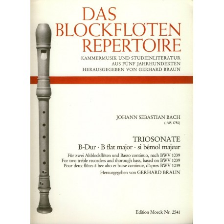 Trio Sonata in B flat Major after BWV1039