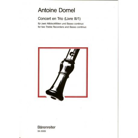 Concert en Trio (Livre III/1)