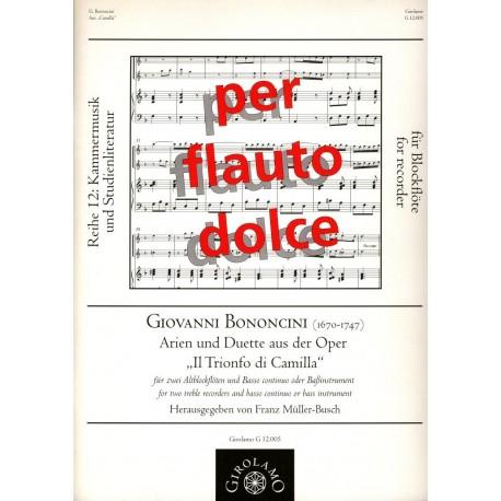 """Arias and Duets from """"Il Trionfo di Camilla"""" [The Triumph of Camilla]"""