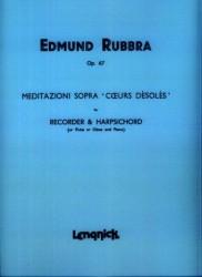 Meditazioni Op 67 Sopra Coeurs Desoles