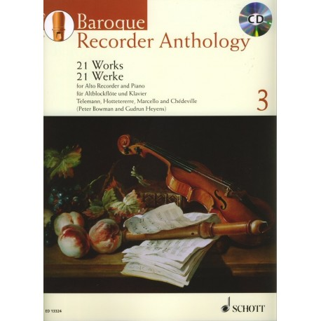 Baroque Recorder Anthology Volume 3 (with CD)