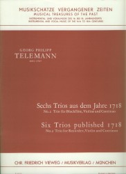 Trio No 2 from Six Trios published in 1718