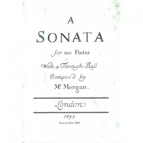 A Sonata for Two Flutes with a Through Bass