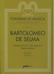Canzon 20 e 21 a doi soprani e bassl continuo