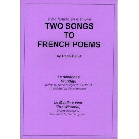 Two Songs to French Poems