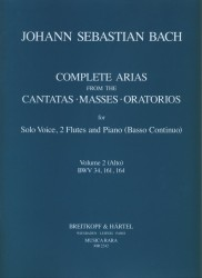 Complete Arias from the Cantatas, Masses and Oratorios BWV34, BWV161, BWV164 Vol 2