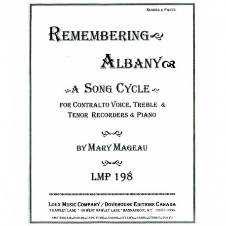 Remembering Albany - A Song Cycle