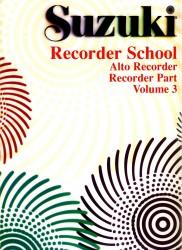 Recorder School, Treble Recorder, Recorder Part Volume 3