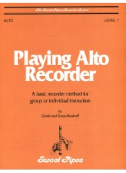 Playing Alto Recorder