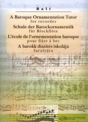 A Baroque Ornamentation Tutor for recorder