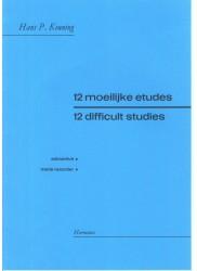 Twelve Difficult Studies for Treble Recorder