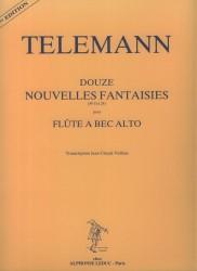 Douze Nouvelles Fantaisies pour flute a bec alto.  Numbers 13 to 24.Twelve New Fantasies for Solo Treble Recorder