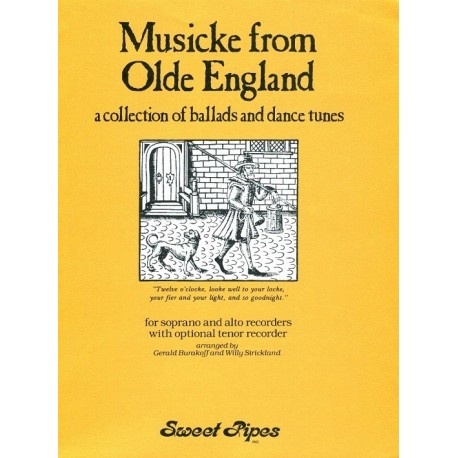 Musicke From Olde England: a collection of ballads and dance tunes