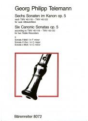 Six Canonic Sonatas Op 5 Bk 2
