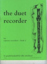 The duet recorder for soprano recorders - book 2