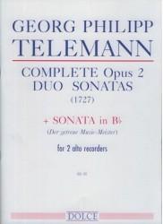 Complete Opus 2 Duo Sonatas (1727) and Sonata in B flat Major