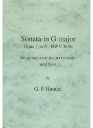 Sonata in G Major Op 1 No 5 HWV363b