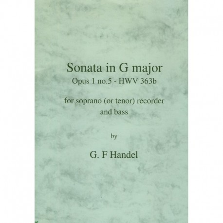 Sonata in G Major Op. 1 No. 5 HWV363b