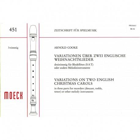 Variations on Two English Christmas Carols
