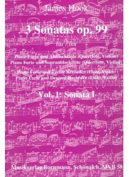 Three Sonatas Op 99, Vol 1  Sonata 1